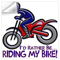 ...Riding My Bike... Wall Decal