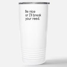 Break Your Reed Stainless Steel Travel Mug