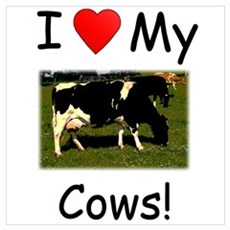Love My Cows Framed Print