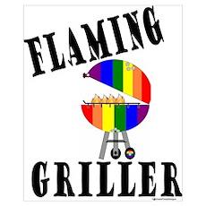 FLAMING GRILLER Poster
