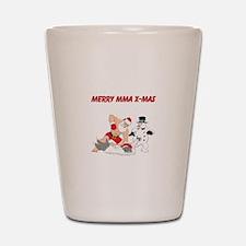 MMA Santa Shot Glass