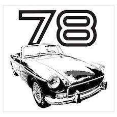 1978 MG Midget Poster