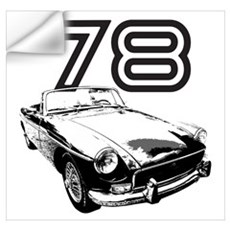 1978 MG Midget Wall Decal