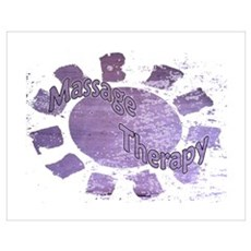 Massage Therapy Purple Poster