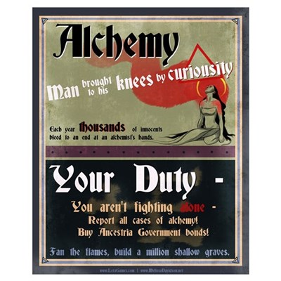 Ancestria Anti-Alchemist Propaganda I Poster