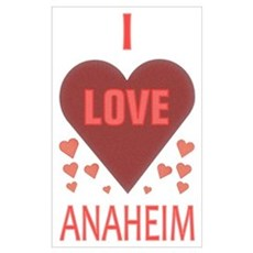 I Love Anaheim Canvas Art
