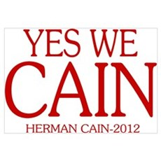 YES WE CAIN 2012 Canvas Art