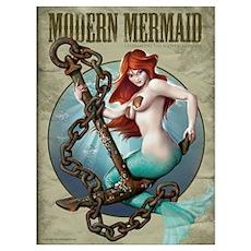 Modern Mermaid 9x12 framed Poster