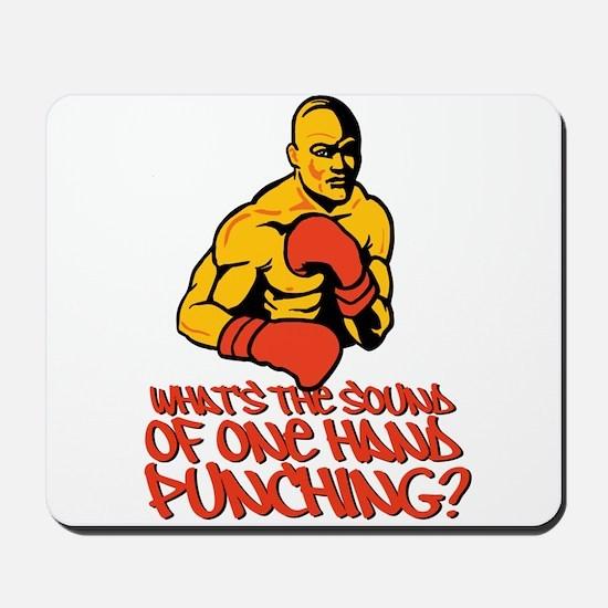 One Hand Punching Mousepad