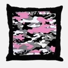 PINK CAMO Throw Pillow