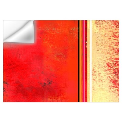 Abstract Red & Cream Wall Decal