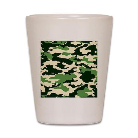 GREEN CAMO Shot Glass