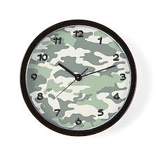 GREEN CAMO Wall Clock