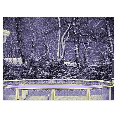 Swimming Pool in the Snow Framed Print