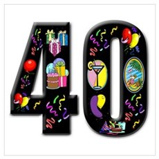 40th birthday Canvas Art