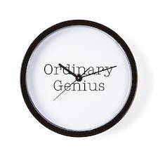 ORDINARY GENIUS Wall Clock
