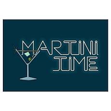 Martini Time Retro Lounge Poster