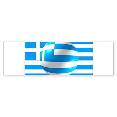 Greek Flag With Bubble Bumper Sticker