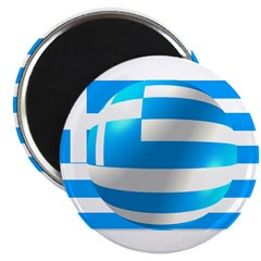 Greek Flag With Bubble 2.25