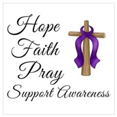 Support Awareness - Lupus Cross Canvas Art