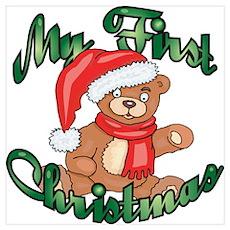 First Christmas Bear Poster
