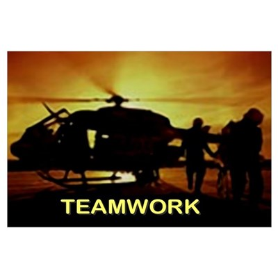 EMS HELICOPTER TEAM Poster
