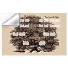 Family Tree 3 Acorns Wall Decal