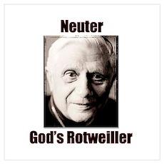 Neuter God's Rotweiller Poster