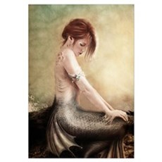 Sea Faerie, Mermaid Canvas Art