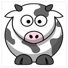 Cartoon Cow Poster