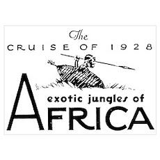 Vintage AFRICA Poster