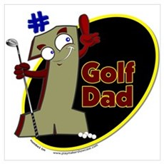 Number 1 Golf Dad Poster