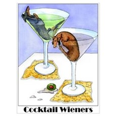 Cocktail Wieners (Longhaired Framed Print