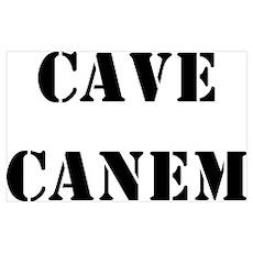 "Cave Canem ""Beware of Dog"" Poster"