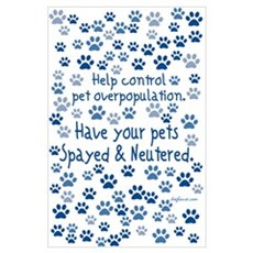 Help Control - Spayed & Neutered Poster