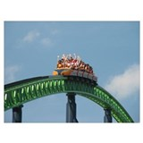 Amusement park roller Wrapped Canvas Art