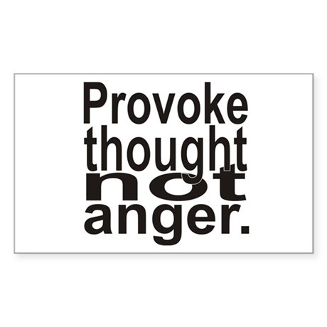 Provoke Thought Sticker (Rectangle)