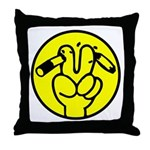 Funny Anti Smoking Sign Throw Pillow