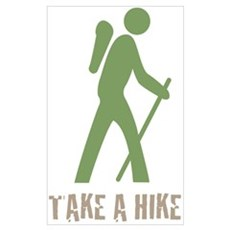Take a Hike Green Poster