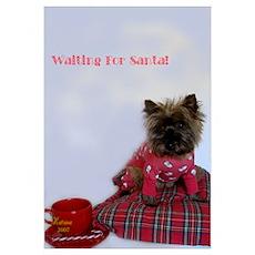 Waiting For Santa Poster