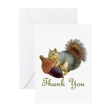Squirrel Acorn Thank You Greeting Card