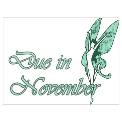 Due November Green W Fairy Poster