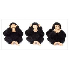 Hear, See, Speak No Evil Monkey Poster