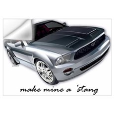 """make mine a 'stang"" Wall Decal"