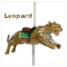 carousel leopard Poster