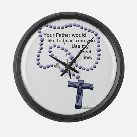 Love Mom 1 Large Wall Clock