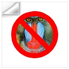 No Baboons Wall Decal