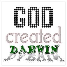 God Created Darwin Poster