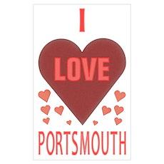 I Love Portsmouth Poster