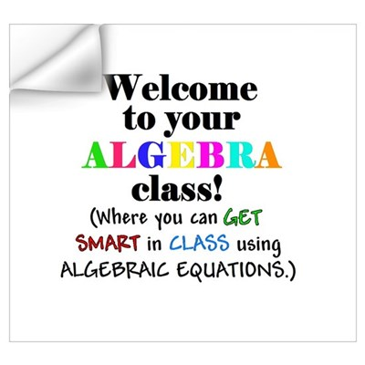 Welcome to your ALGEBRA class Wall Decal